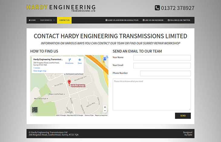 hardy engineering simple contact form